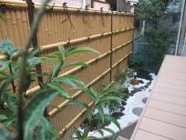 人工竹垣を使った和風のお庭 茨木市 K様邸