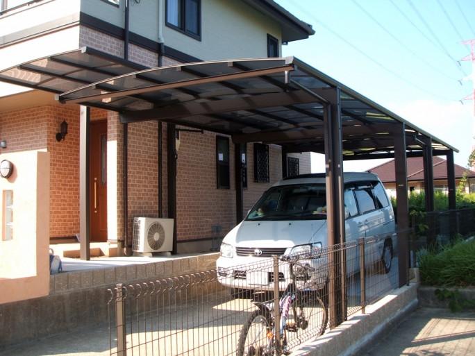 生駒市 T様邸 カーポート工事1