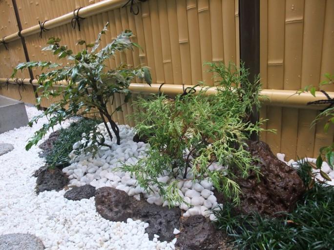 人工竹垣を使った和風のお庭 茨木市 K様邸2