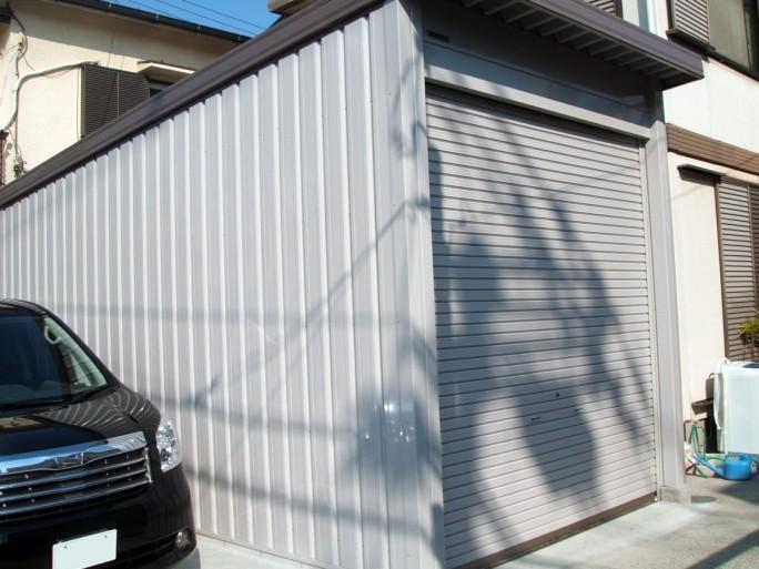 八尾市 H様邸 ガレージ工事1