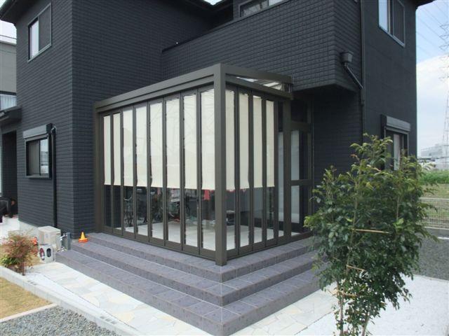黒いガーデンルーム 堺市S様邸3