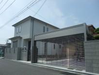 2台用シャッター付き車庫 岸和田市 S様邸
