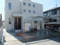 レンガ・自然石・石調タイルを使った洋風オープン外構 奈良県香芝市 N様邸