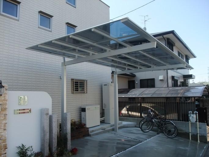 レンガ・自然石・石調タイルを使った洋風オープン外構 奈良県香芝市 N様邸6