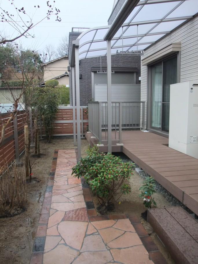 ウッドデッキを使ったお庭のリフォーム 枚方市 K様邸6