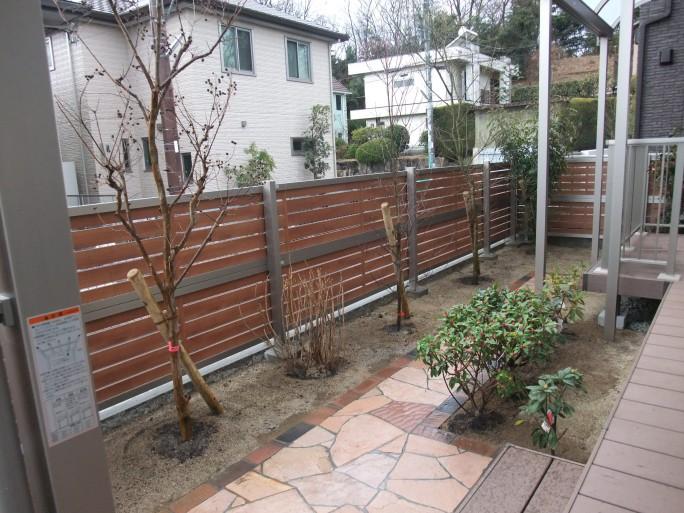 ウッドデッキを使ったお庭のリフォーム 枚方市 K様邸5