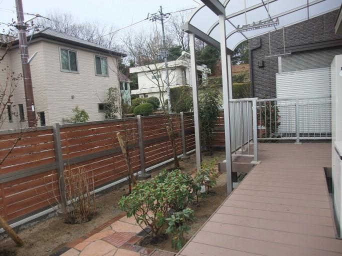 ウッドデッキを使ったお庭のリフォーム 枚方市 K様邸2