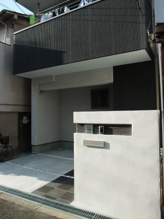 オシャレな門柱のオープン外構 大阪市東住吉区 U様邸3