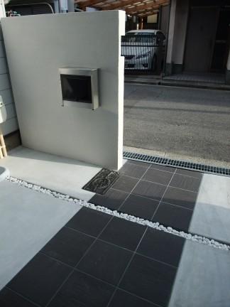 オシャレな門柱のオープン外構 大阪市東住吉区 U様邸4