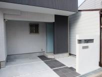 オシャレな門柱のオープン外構 大阪市東住吉区 U様邸