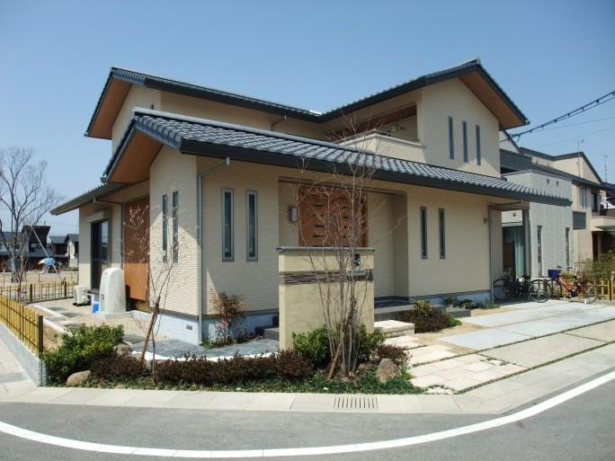 坪庭のある和風外構 滋賀県近江八幡市 N様邸1