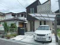 建物に合せたナチュラルモダンなオープン外構 池田市 S様邸