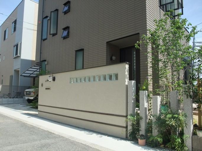 洋風でアンティーク調をイメージした上品な外構 大阪市阿倍野区 I様邸2
