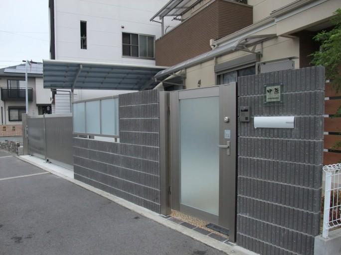 LIXIL(TOEX)ステンシャイン引戸を使ったリフォーム外構 堺市北区 N様邸2