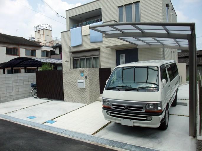 八尾市 O様邸 門・車庫まわり工事2